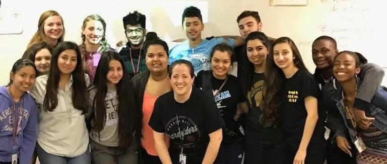 Wheatley, Monarch's Founder, with her AP Spanish students.
